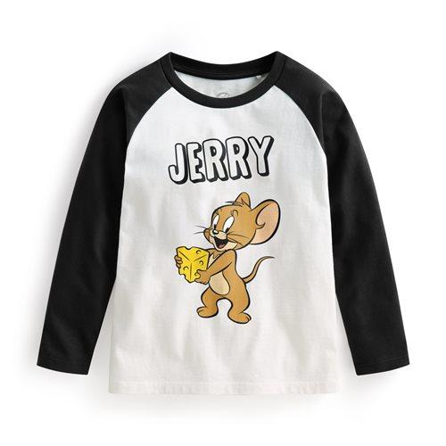 Tom & Jerry拉克蘭長袖印花T恤-02-童