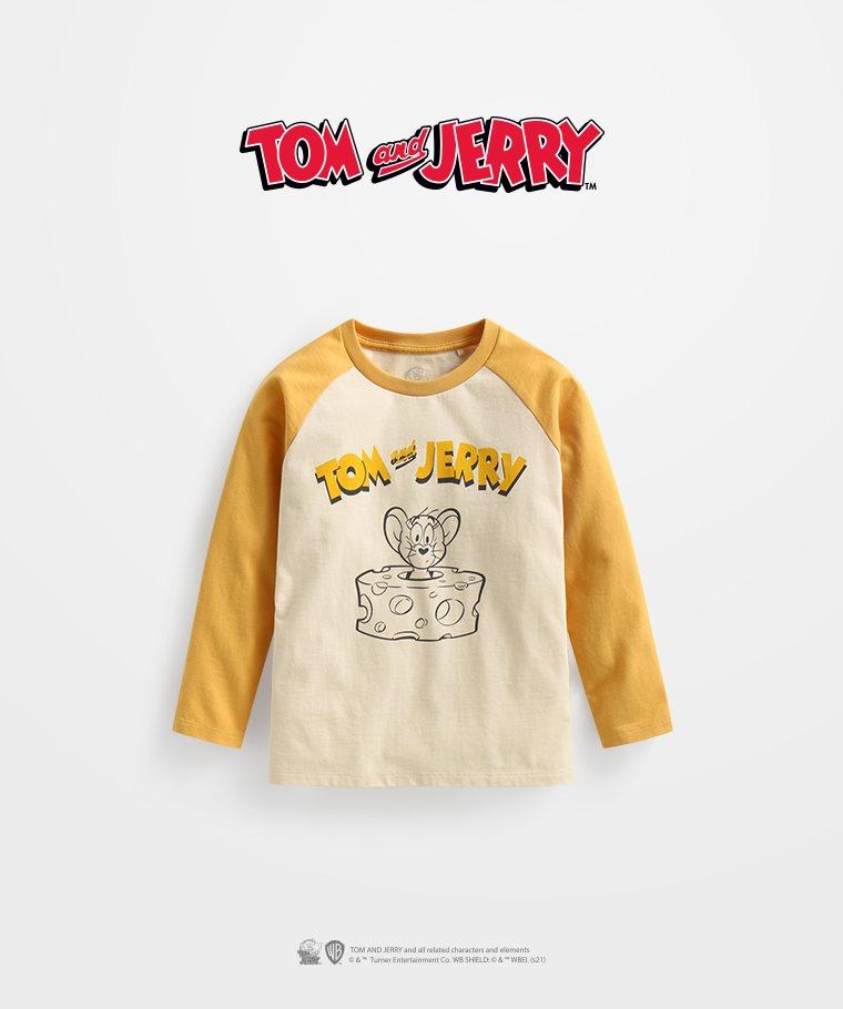 Tom & Jerry拉克蘭長袖印花T恤-04-童
