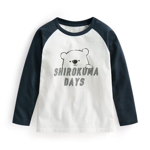 Shirokuma Days拉克蘭長袖印花T恤-01-童