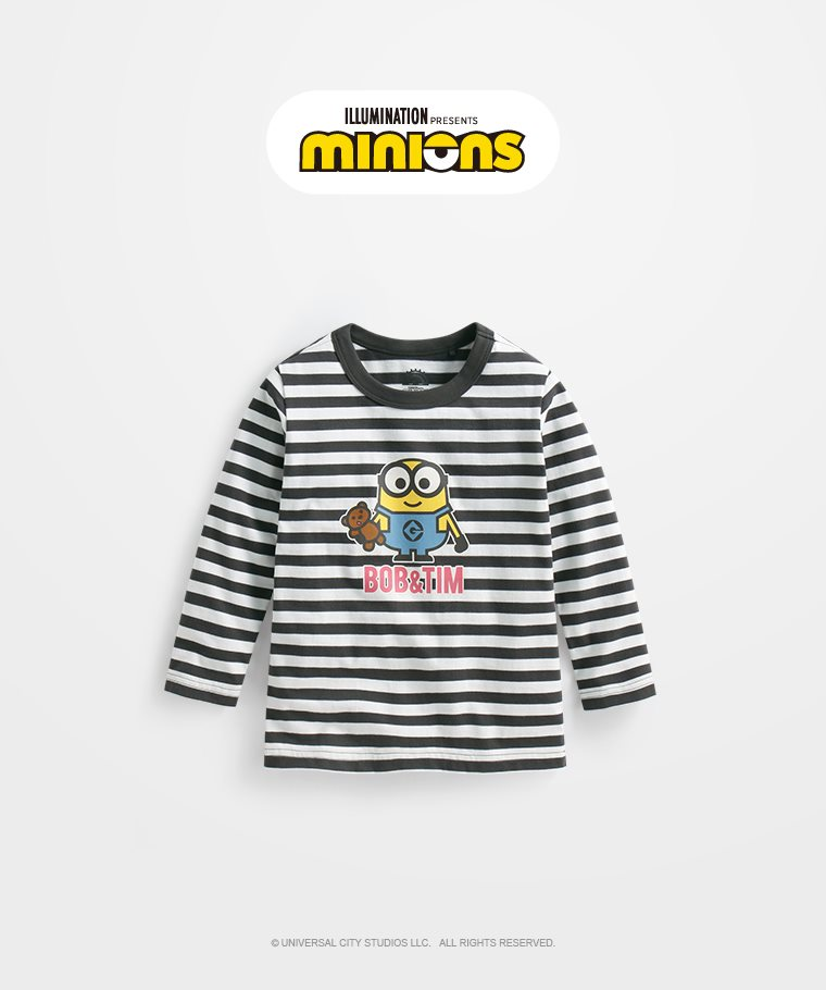 Despicable Me條紋長袖印花T恤-03-童
