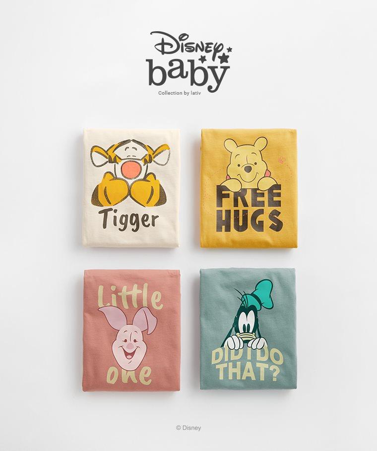 迪士尼系列長袖印花T恤-09-Baby