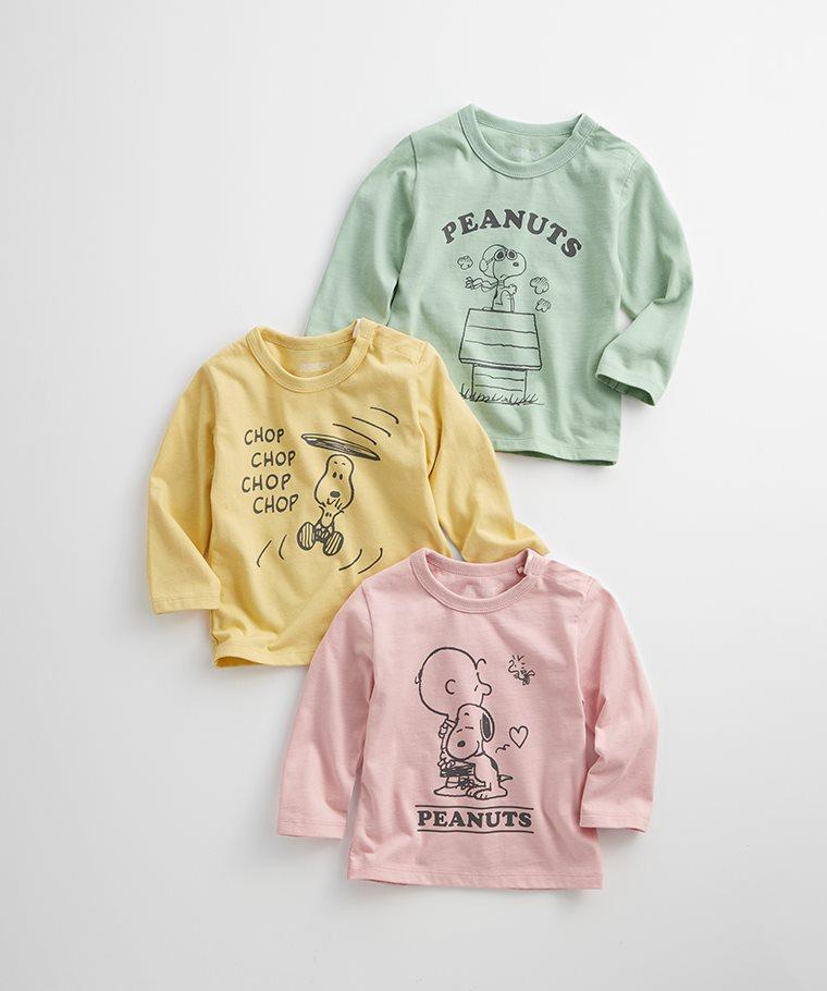 史努比系列長袖印花T恤-11-Baby