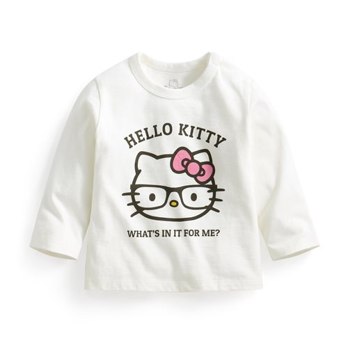 Hello Kitty長袖印花T恤-01-Baby