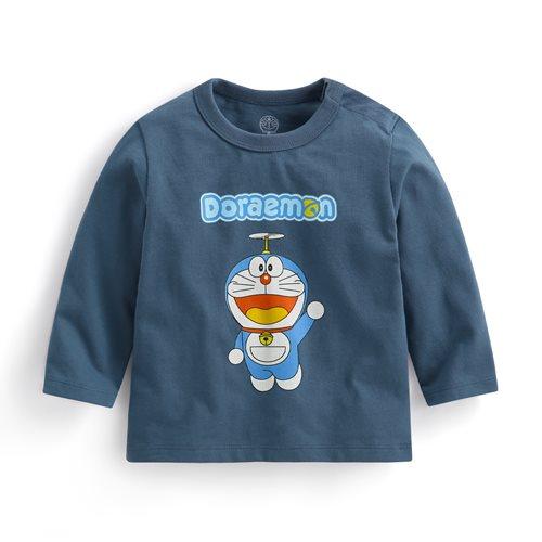哆啦A夢長袖印花T恤-01-Baby