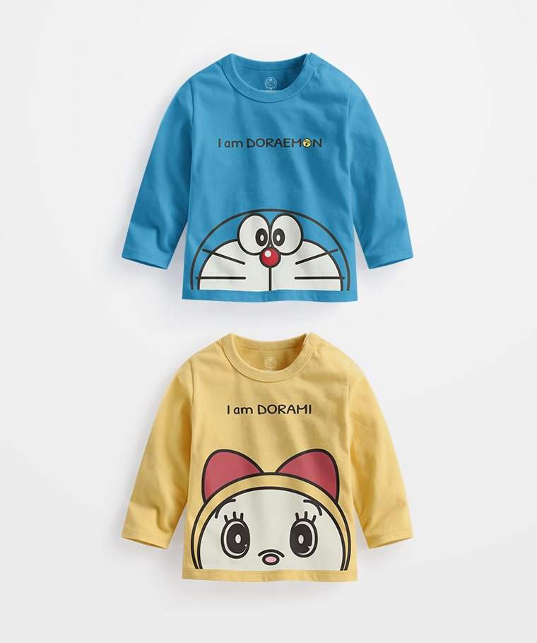 哆啦A夢長袖印花T恤-03-Baby