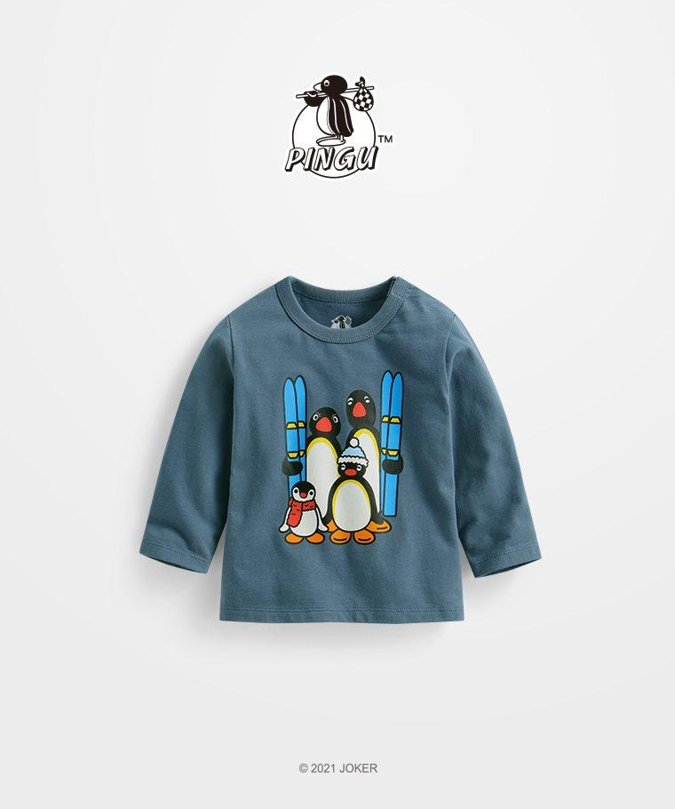 PINGU長袖印花T恤-01-Baby