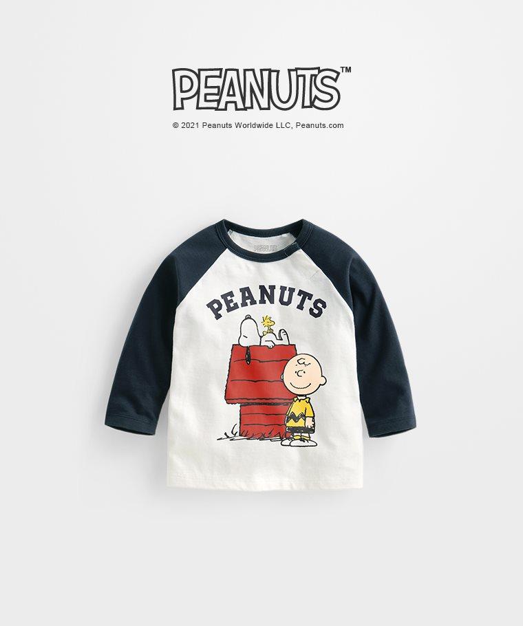 史努比系列拉克蘭長袖印花T恤-05-Baby