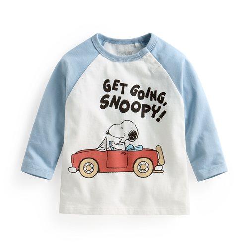 史努比系列拉克蘭長袖印花T恤-12-Baby