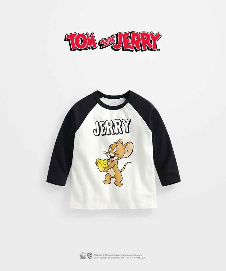 Tom & Jerry拉克蘭長袖印花T恤-02-Baby