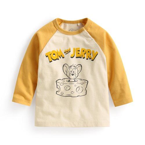 Tom & Jerry拉克蘭長袖印花T恤-04-Baby