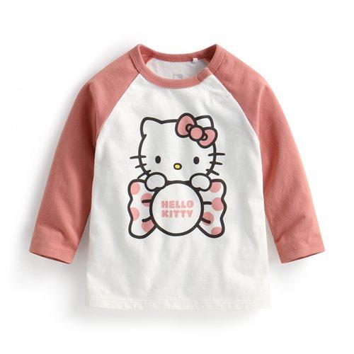 Hello Kitty拉克蘭長袖印花T恤-03-Baby