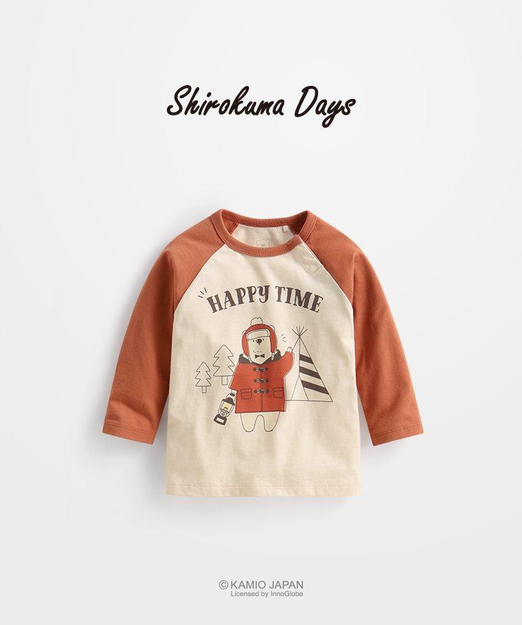 Shirokuma Days拉克蘭長袖印花T恤-04-Baby