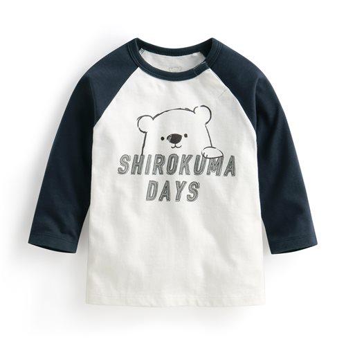 Shirokuma Days拉克蘭長袖印花T恤-01-Baby