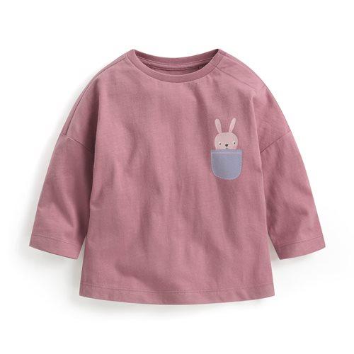 竹節棉寬鬆印花T恤-01-Baby