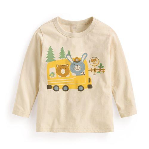 公車長袖印花T恤-童