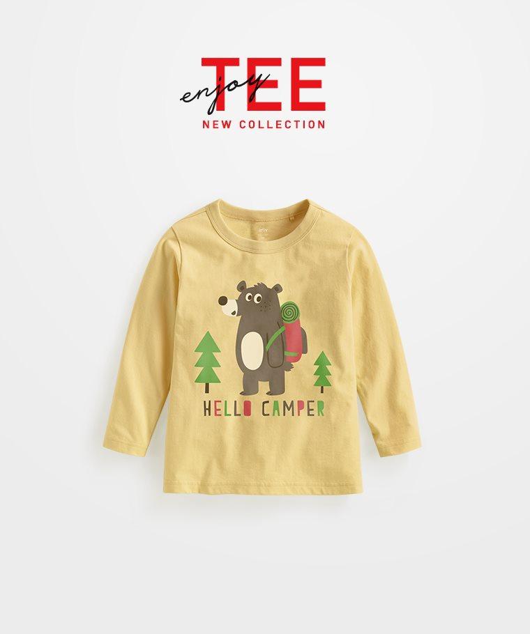 灰熊長袖印花T恤-童