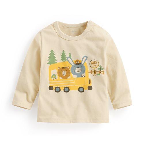 公車長袖印花T恤-Baby