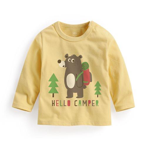 灰熊長袖印花T恤-Baby