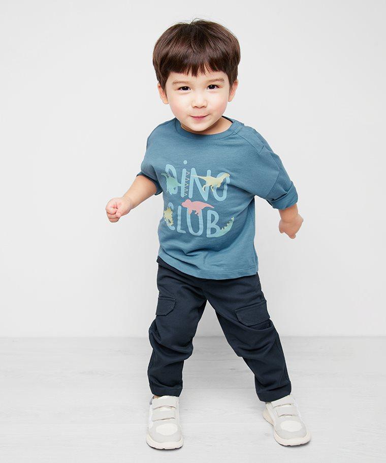 竹節棉寬鬆印花T恤-02-Baby